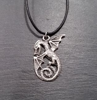 Celtic pendant on black cord