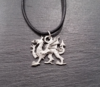 Celtic pendant on black cord