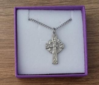 Celtic cross pendant on chain