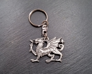 Welsh dragon keyring