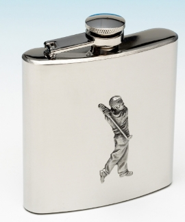 golfer hip flask